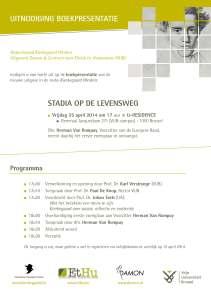 Boekpresentatie Stadia op de Levensweg Poster web